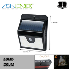 Garden, Porch 6SMD 30LM Solar Powered Motion Sensor Light