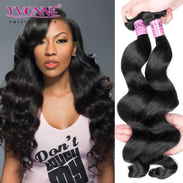Yvonne Peruvian Vrigin Human Hair Extension Loose Wave for Black Women