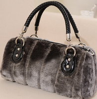 New products 2016 online shopping bags women casual bag cony hair warm fashion fur women handbag