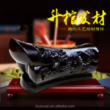 2017 Hot Sale Wood Carved Handicrafts Miniature Wooden Coffin Craft Box To Bring Good Luck