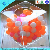 Shenzhen manufacturer sells square Acrylic luck draw box, acrylic box