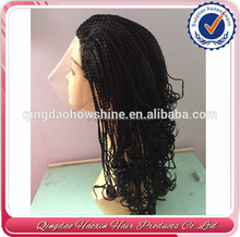 top fashion stock brazilian hair braided wig for black women human brazilian hair