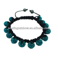 light blue shamballa bracelet