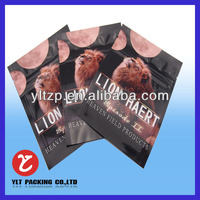 high quality 3 sides heat sealed eco friendly resealable aluminum foil zipper bags