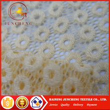 Wholesale cheap and sexy yellow cream embroider lace fabric for figure-hugging dress