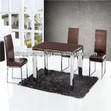 simple &easy table.modern dining room set.popular color table and chair.high back rest chairs