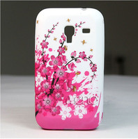 Flower Soft TPU Gel Skin Case Cover For Samsung Galaxy Ace Plus S7500