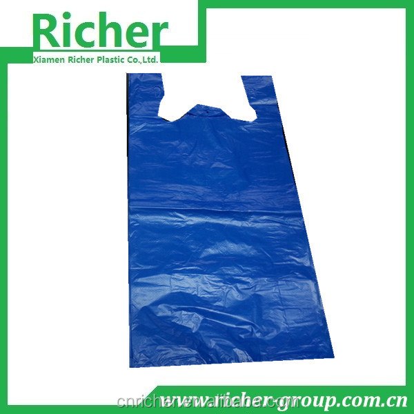 HDPE Recycled Material Black Plastic T Shirt Pack Bags