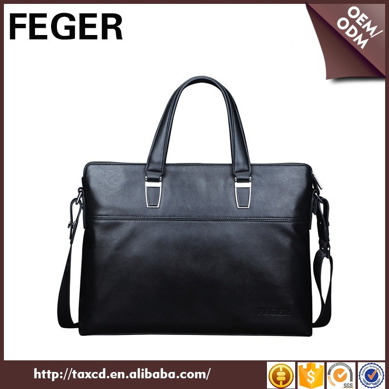 FEGER trend leather handbag for men