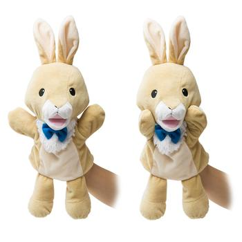 HollyHOME Plush Zoo Friends Hand Puppet Farm Animal Puppet Rabbit for Kids Storytime 14 Inches Yellow