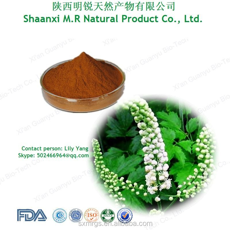 5% Triterpenoid saponins Pure natural Black cohosh extract for women health