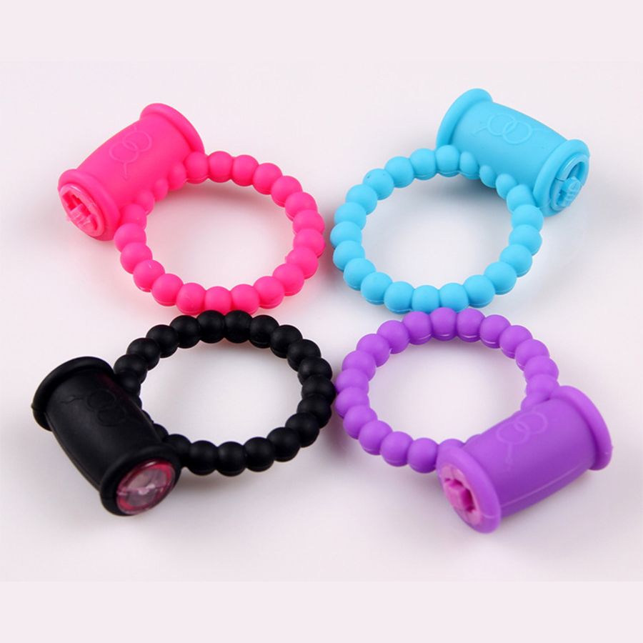 High quality delay male ejaculation beads vibrating cock ring for adult sex game