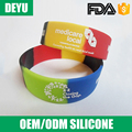 Most popular colorful logo silicone bracelet teething