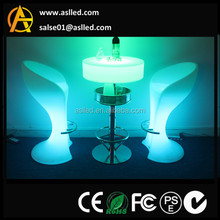 2015 hot sale illuminated led furniture/ led table / led chair with footrest