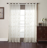 high quality latest designs embroidery sheer curtain