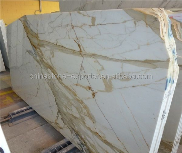 Italy marble plate, white calacatta oro marble tile slabs, calacatta gold marble