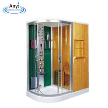 wood natural steam shower and sauna room