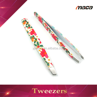 TW1109 Wholesale angled splinter slant tip tweezers