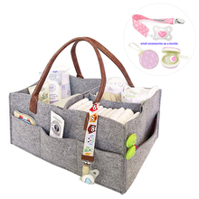 portable nursery storage tote bag baby diaper bag with leather hundle