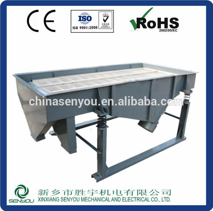 Linear vibrating screen separator for fertilizer