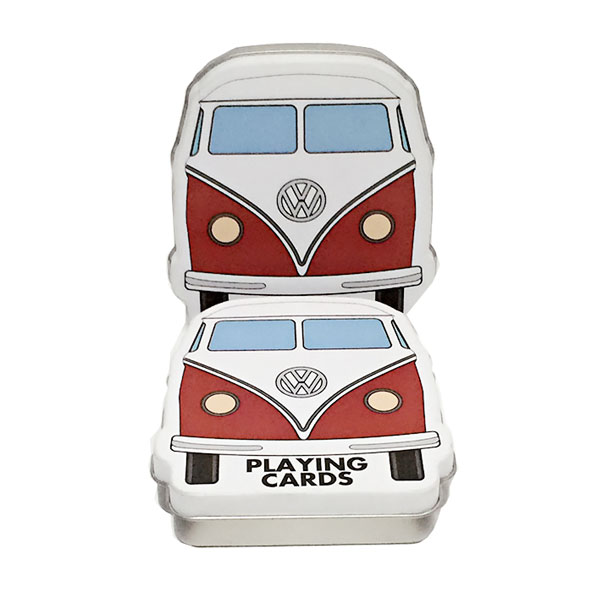 Bus shape playing cards tin case