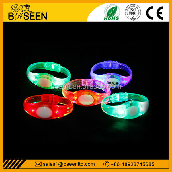 music activated led bracelet sound controlled custom christmas decoration party show light LED bracelets