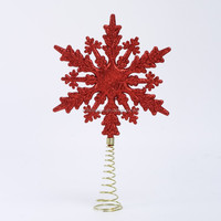 hot sale large hanging decorative plastic glitter snowflake ornaments