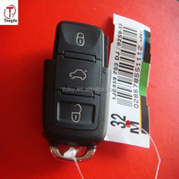 TD 3 button remote key shell part, key case blank for VW