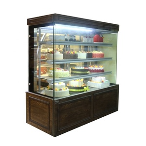 Glass food warmer pastry bakery display showcase refrigerator mini cake donut showcase food showcase for sale