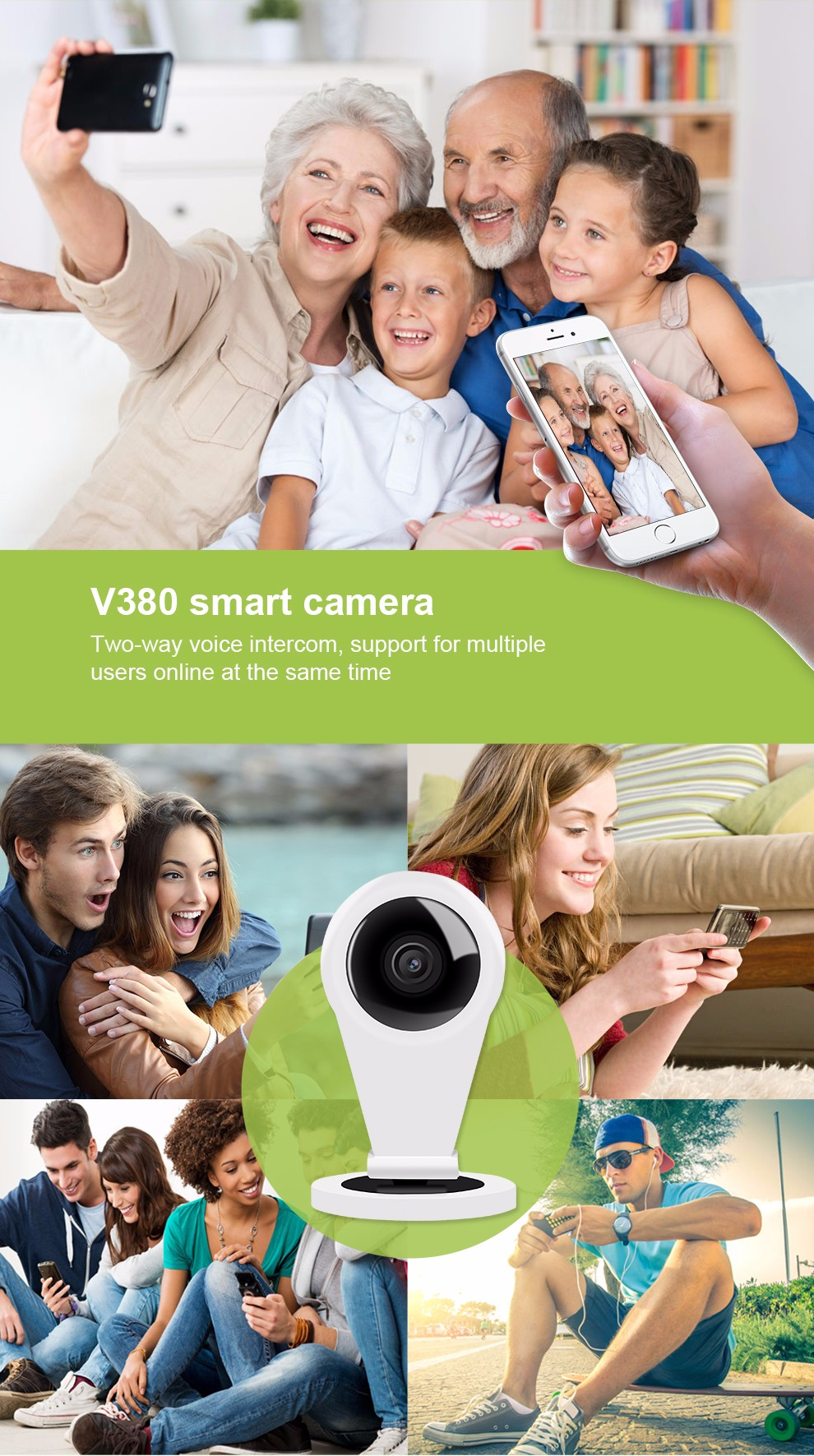 Factory In Guangdong China High-Ranking Wifi Dome IP Camera K10 with 720P