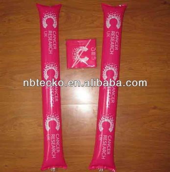 PVC Inflatable noise maker cheering stick clappers