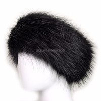 outdoor faux fur headbands ear warmer ski hats