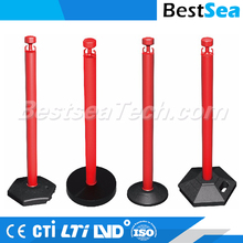 Flexible plastic bollard 1.1 Meter length, traffic safety driveway chain barrier