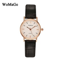 2016 fashion small dial women watches fashion relojes Mujer clock pu leather casual watch simple lovers quartz watch