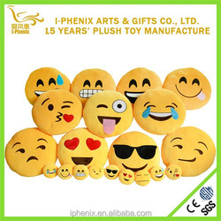 China Supplier Factory Cheap Plush Emoji Pillows