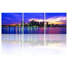 Cityscape Canvas Wall Arts/New York City Skyline Wall Pictures/Framed and Stretched Home Decor