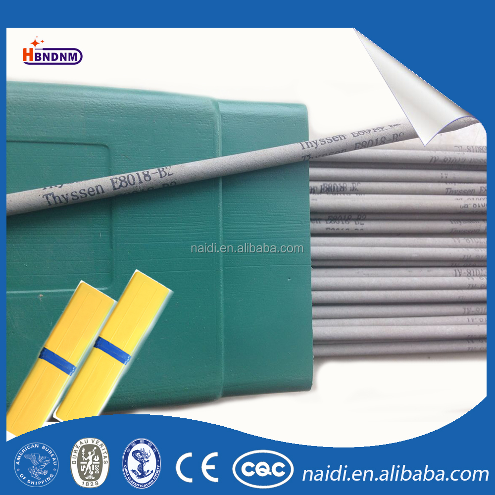 china supplier heat resistant steel electrode welding rod aws a5.5 e8018-b2 for pressure vessels