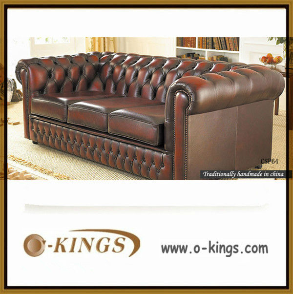 Latest italy chesterfield leather sofa