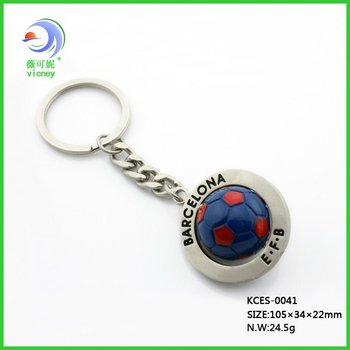 2012 fashion Barcelona football shape metal keychain (KCES-0017)