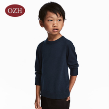 Long sleeves round neck 100%wool knitting pullover boy's sweater