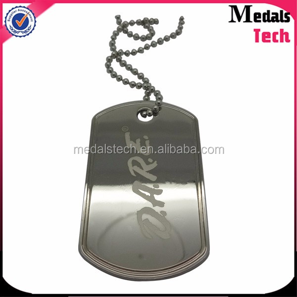 Fashion metal custom dog tag bottle opener necklace