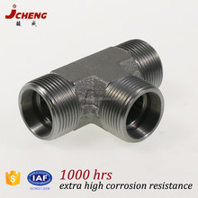 Heavy duty S type DIN2353(ISO8434) union tee brass stainless steel pipe fitting