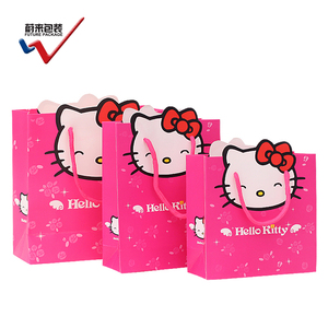 HelloKitty pink cute popular gift bag cartoon bag paper
