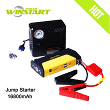 2016 Best Selling Model Battery Car Jump Starter 16800mAh With Air Compressor