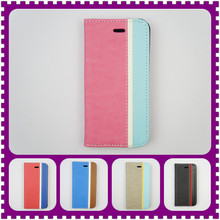 5 Colors Avaible PU Leather Case PC Hard Back Cover Wallet Case For iphone 5 Credit Card Holder Case