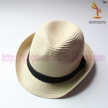 Men's paper straw hat for summer