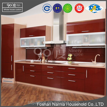 incredible modern kitchen cabinet design 2017 with modern red angled cabinets