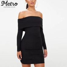 Fashion Women Bodycon Off Shoulder Dress