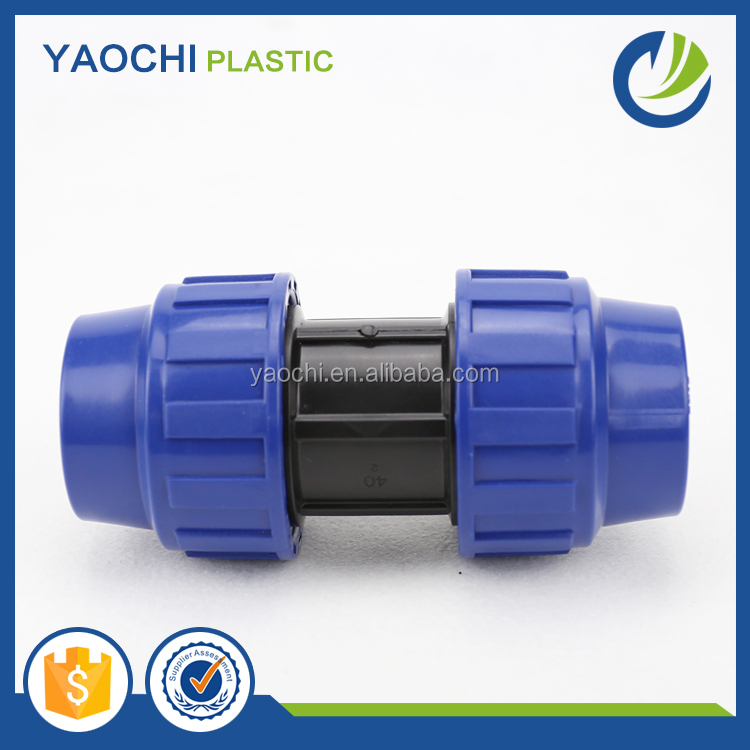 All size available PP compression pipe fitting water fluid quick female coupling