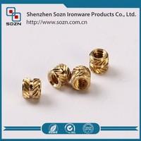 Precision brass nut for bolt